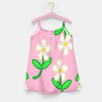 Miniatur White florals on pink Girl's dress, Live Heroes