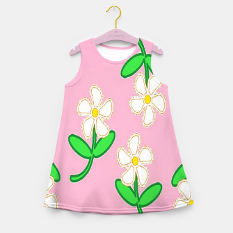 Thumbnail image of White florals on pink Girl's summer dress, Live Heroes