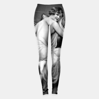 Thumbnail image of The Temptress by Francois Martin-Kavel Old Masters Grey Scale Xzendor7 Reproductions Leggings, Live Heroes