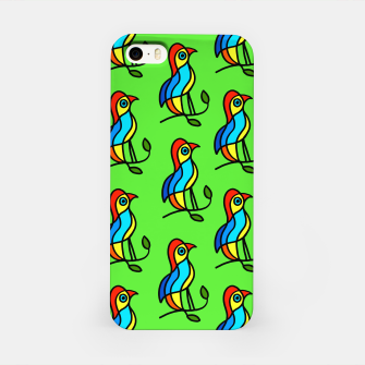 """Thumbnail image of  Color Birds on a Twigs on Light Green Board  """"Paper Drawings/Paintings""""  iPhone Case, Live Heroes"""