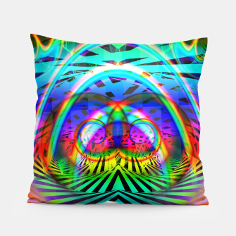 Thumbnail image of Optical Art Rainbow 6 (Gradient) Pillow, Live Heroes