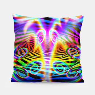 Thumbnail image of Optical Art Rainbow 7 (Gradient) Pillow, Live Heroes