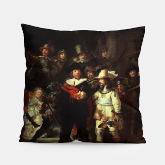 Thumbnail image of The Night Watch by Rembrandt van Rijn  Pillow, Live Heroes