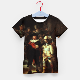 Thumbnail image of The Night Watch by Rembrandt van Rijn  Kid's t-shirt, Live Heroes