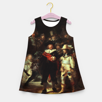 Thumbnail image of The Night Watch by Rembrandt van Rijn  Girl's summer dress, Live Heroes