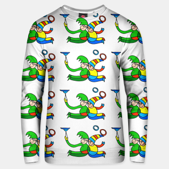 Thumbnail image of Multiplied Twin Jugglers In Color for Kids  Unisex sweater, Live Heroes