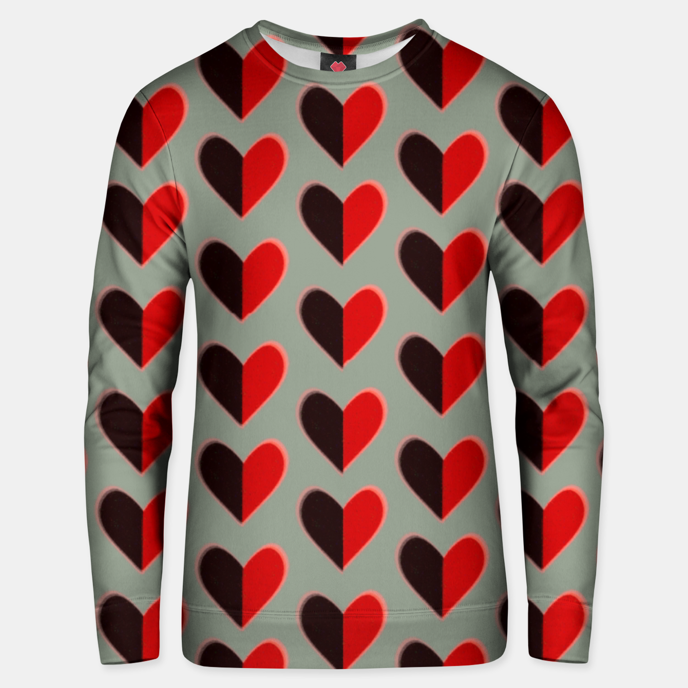 Image of Two colour heart  Sudadera unisex - Live Heroes