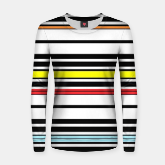 Thumbnail image of Colorful stripes lines Women sweater, Live Heroes