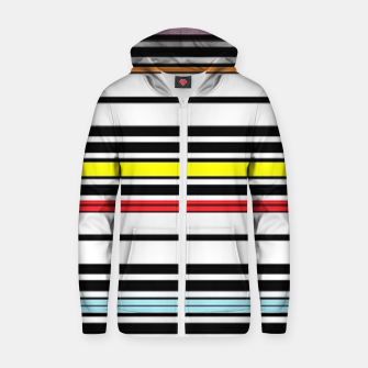 Thumbnail image of Colorful stripes lines Zip up hoodie, Live Heroes