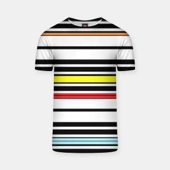 Thumbnail image of Colorful stripes lines T-shirt, Live Heroes