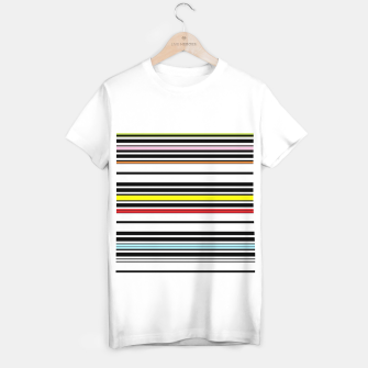 Thumbnail image of Colorful stripes lines T-shirt regular, Live Heroes