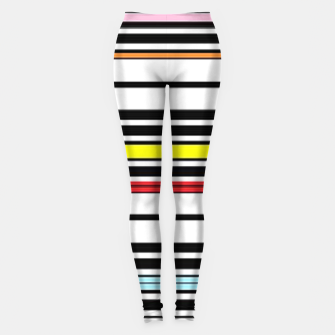 Thumbnail image of Colorful stripes lines Leggings, Live Heroes