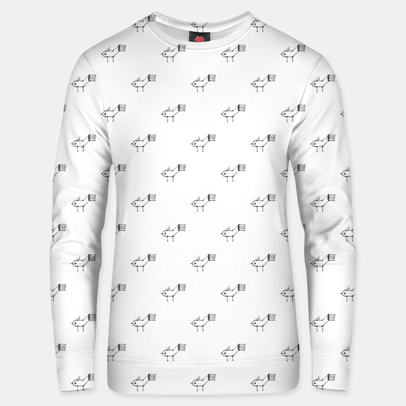 Image of Stylized Bird Drawing Pattern Unisex sweater - Live Heroes