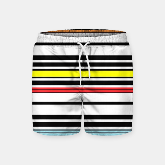 Thumbnail image of Colorful stripes lines Swim Shorts, Live Heroes