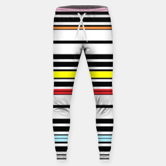 Thumbnail image of Colorful stripes lines Sweatpants, Live Heroes