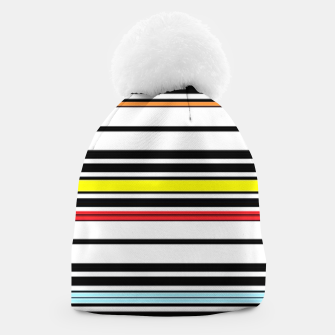 Thumbnail image of Colorful stripes lines Beanie, Live Heroes