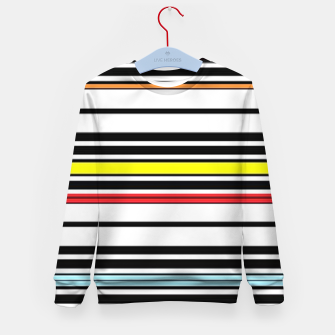 Thumbnail image of Colorful stripes lines Kid's sweater, Live Heroes