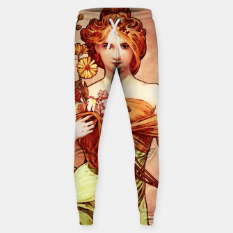 Spring The Golden Beauty by Alphonse Mucha Sweatpants thumbnail image