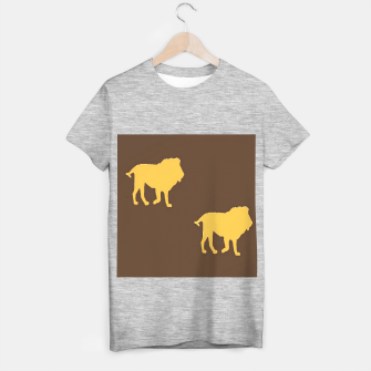 Thumbnail image of Gold lions on brown T-shirt regular, Live Heroes