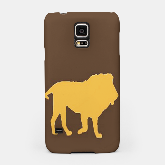 Thumbnail image of Gold lions on brown Samsung Case, Live Heroes
