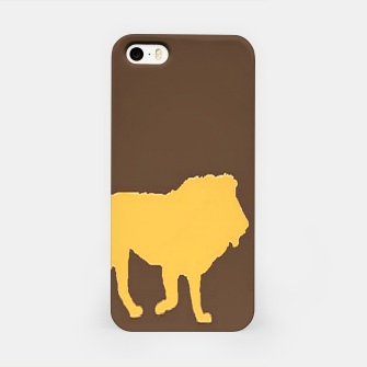 Thumbnail image of Gold lions on brown iPhone Case, Live Heroes