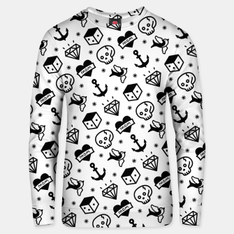 Thumbnail image of Old School Tattoo  Unisex sweater, Live Heroes