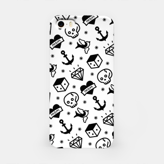 Thumbnail image of Old School Tattoo  iPhone Case, Live Heroes