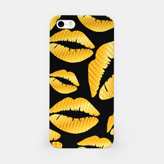 Thumbnail image of Golden lips on black Carcasa por Iphone, Live Heroes