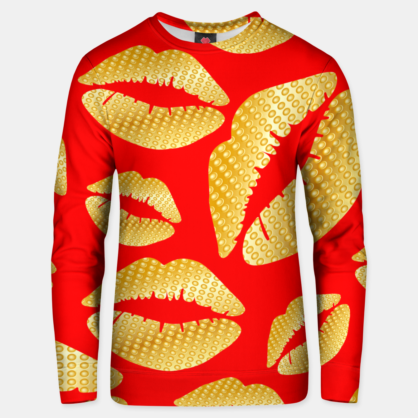 Image of Golden lips on red Sudadera unisex - Live Heroes