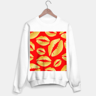 Thumbnail image of Golden lips on red Sudadera regular, Live Heroes