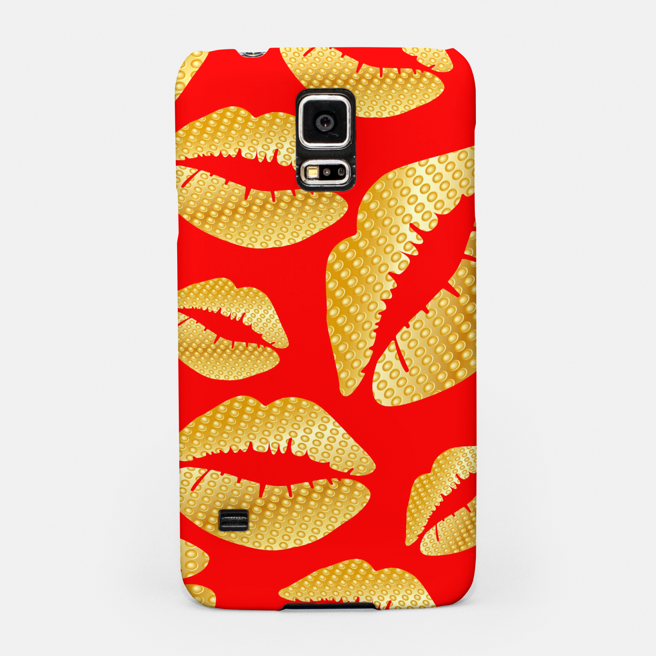 Image of Golden lips on red Carcasa por Samsung - Live Heroes