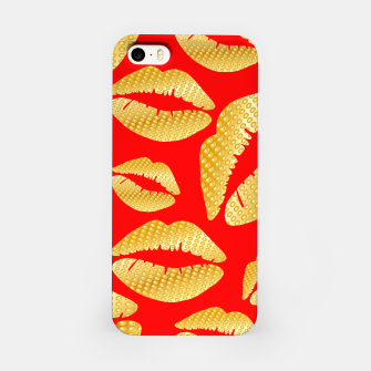 Thumbnail image of Golden lips on red Carcasa por Iphone, Live Heroes