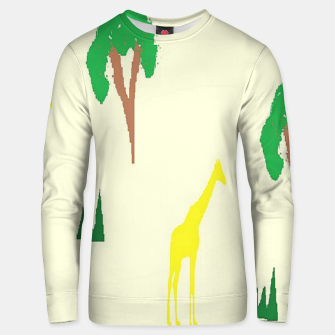 Thumbnail image of Giraffe and tree pattern Unisex sweater, Live Heroes
