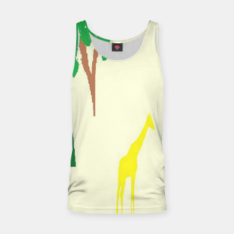 Thumbnail image of Giraffe and tree pattern Tank Top, Live Heroes