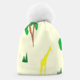 Thumbnail image of Giraffe and tree pattern Beanie, Live Heroes