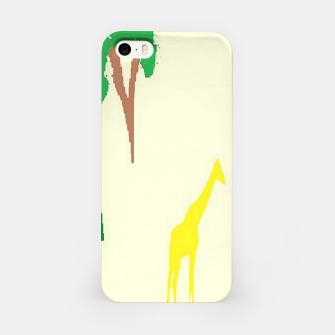 Thumbnail image of Giraffe and tree pattern iPhone Case, Live Heroes