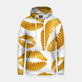 Thumbnail image of Golden lips on white Sudadera con capucha, Live Heroes