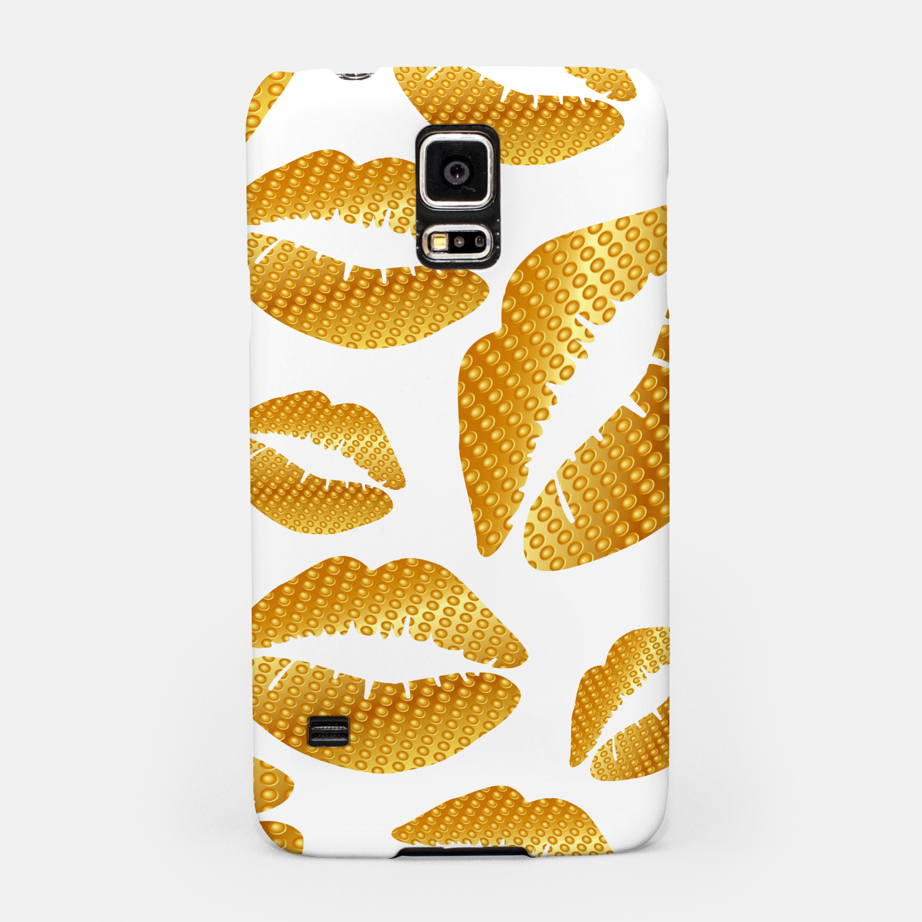 Image of Golden lips on white Carcasa por Samsung - Live Heroes