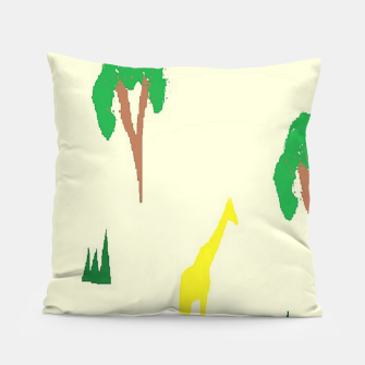 Thumbnail image of Giraffe and tree pattern Pillow, Live Heroes