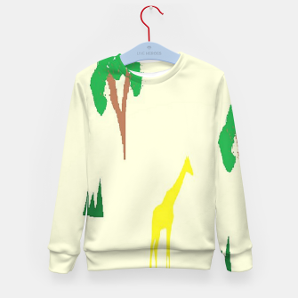 Thumbnail image of Giraffe and tree pattern Kid's sweater, Live Heroes