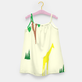 Thumbnail image of Giraffe and tree pattern Girl's dress, Live Heroes