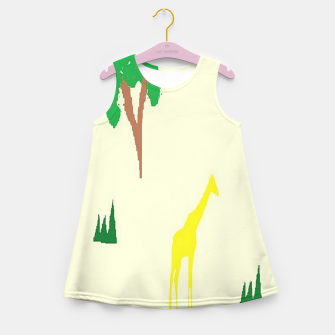 Thumbnail image of Giraffe and tree pattern Girl's summer dress, Live Heroes