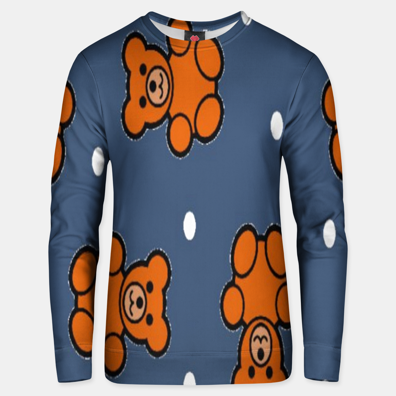 Image of Teddy bear on blue Unisex sweater - Live Heroes