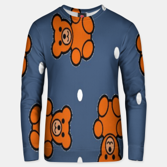 Thumbnail image of Teddy bear on blue Unisex sweater, Live Heroes