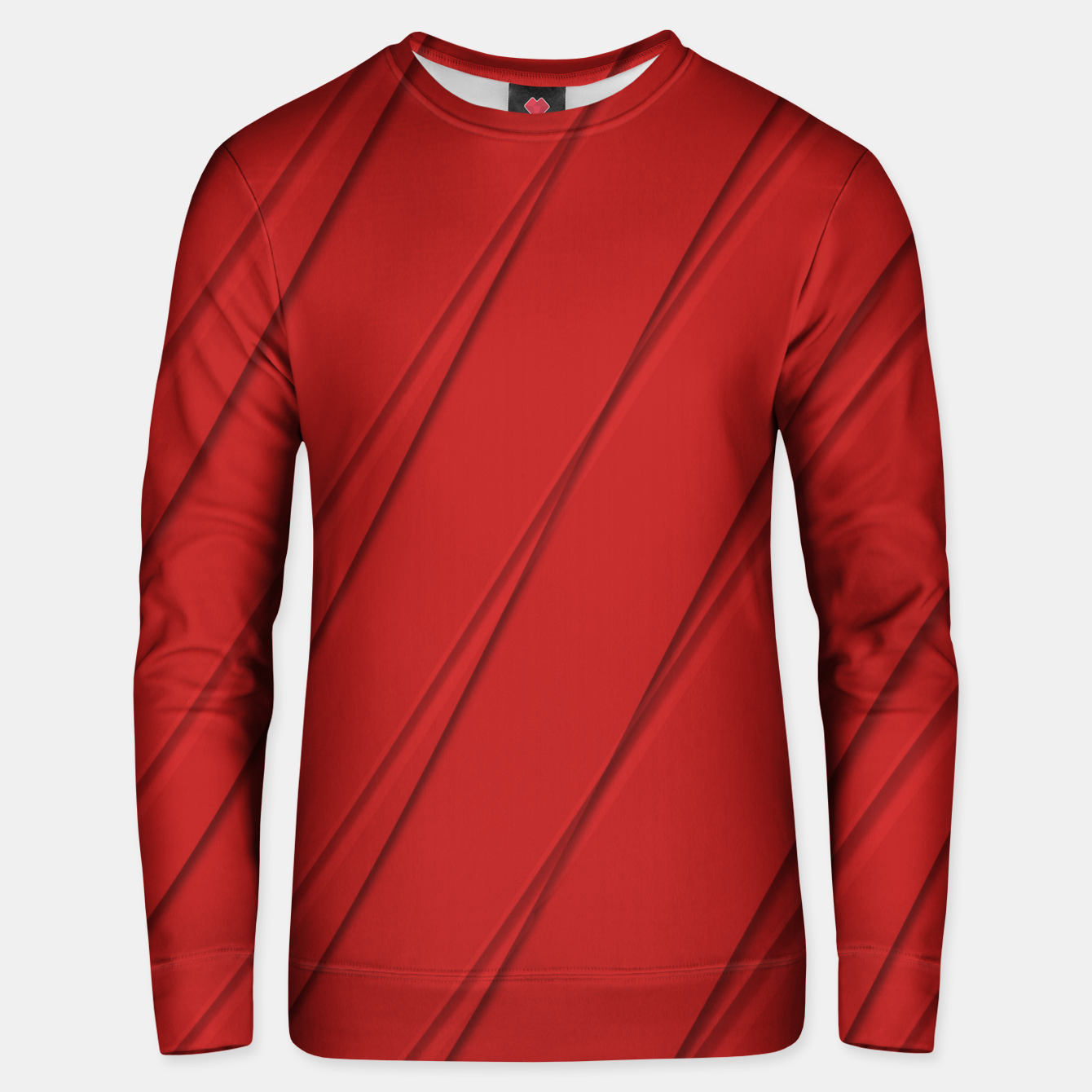 Image of Print Red Pattern Design Unisex sweater - Live Heroes