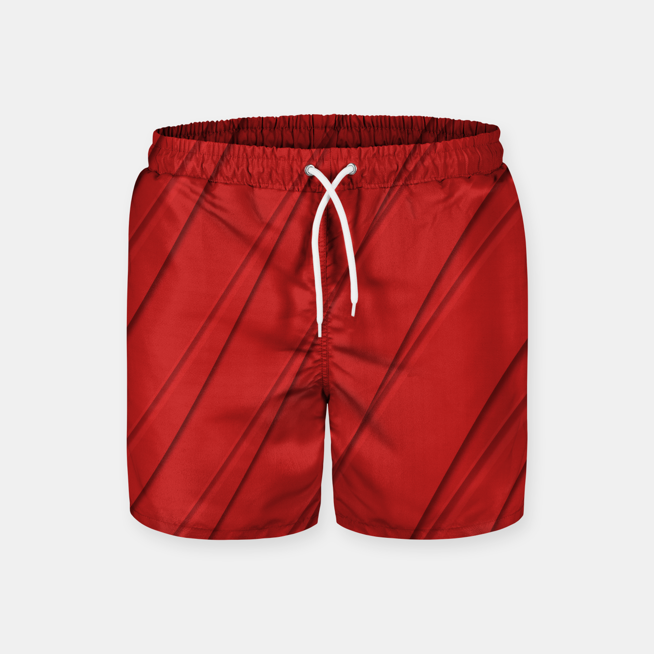 Image of Print Red Pattern Design Swim Shorts - Live Heroes