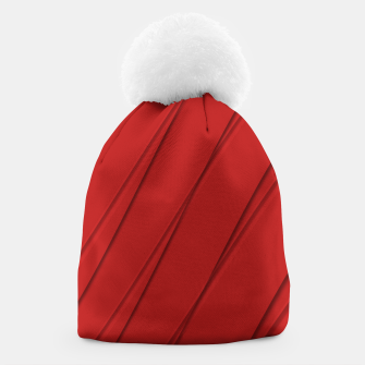 Thumbnail image of Print Red Pattern Design Beanie, Live Heroes