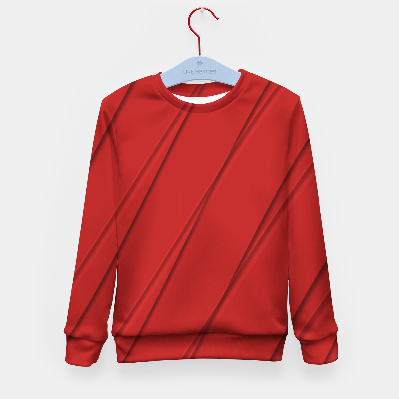 Image of Print Red Pattern Design Kid's sweater - Live Heroes