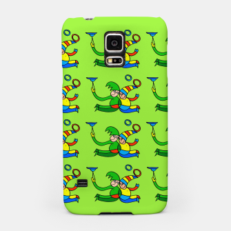 Multiplied Twin Jugglers In Color for Kids on Green Board  Samsung Case thumbnail image