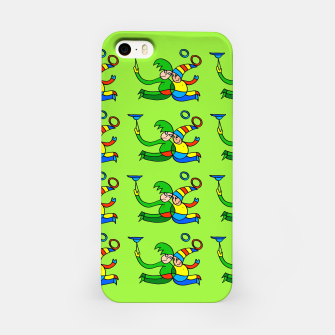 Multiplied Twin Jugglers In Color for Kids on Green Board  iPhone Case thumbnail image